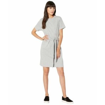 ヴィンス ワンピース トップス レディース Short Sleeve Waist Tie Dress Grey