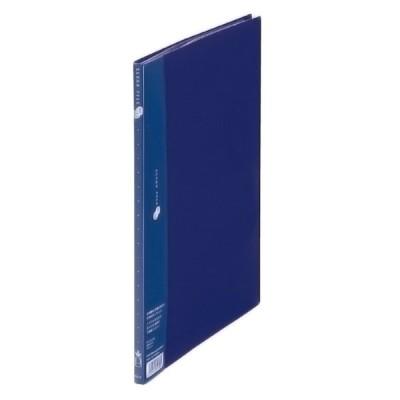 プラス(PLUS) クリアーファイル スーパーエコノミー 溶着式 A4-S 10ポケット ネイビー FC-121EL 88-411