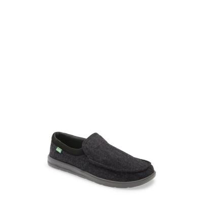 サヌーク メンズ スニーカー シューズ Hi Bro Lite Wooly Slip-On Sneaker BLACK
