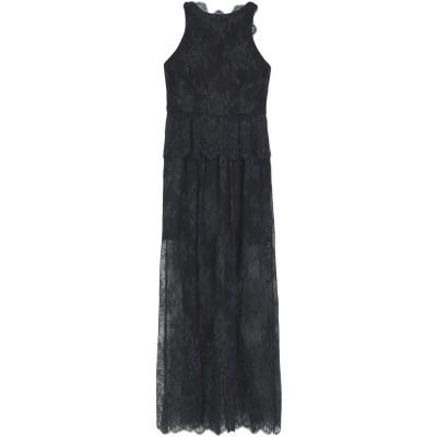 モニークルイリエ MONIQUE LHUILLIER ロングワンピース&ドレス ブラック 10 ポリエステル 100% / ポリウレタン ロングワン