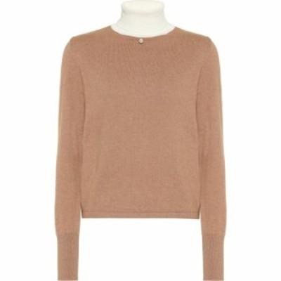 スタッド Staud レディース ニット・セーター トップス Urchin cotton-blend sweater Mocha/Eeggshell