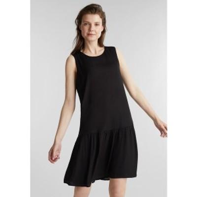 イー ディ シー バイ エスプリ レディース ワンピース トップス WEB VOLANT - Day dress - black black