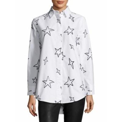 エトレセシール レディース トップス シャツ Stars Oversize Cotton Shirt