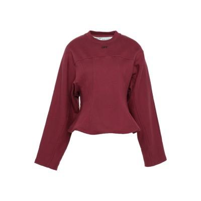 OFF-WHITE™ スウェットシャツ ボルドー XS コットン 100% スウェットシャツ