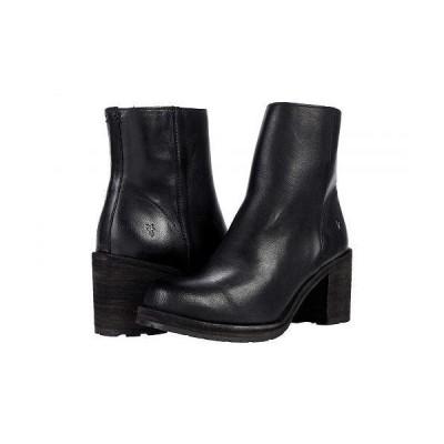 Frye フライ レディース 女性用 シューズ 靴 ブーツ アンクル ショートブーツ Karen Inside Zip Short - Black Vintage Veg Tan