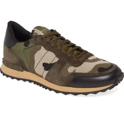 ヴァレンティノ VALENTINO GARAVANI メンズ スニーカー シューズ・靴 Nylon Rockrunner Sneaker Army Green