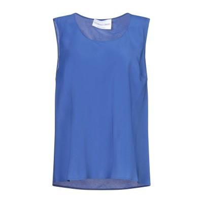 GIORGIO GRATI トップス ブルー 46 アセテート 86% / シルク 9% / ナイロン 5% トップス