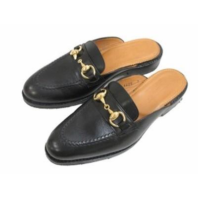 【中古】ジャランスリワヤ Jalan Sriwijaya Beams別注 ビームス ビット スリッパ サンダル 靴 3 黒 ブラック レザー