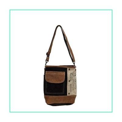 Myra Bags Peace Pocket Upcycled Canvas & Denim Shoulder Bag S-0895並行輸入品