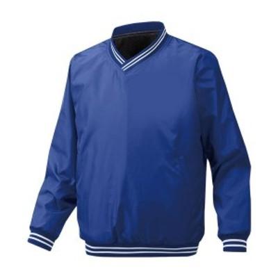 ◆◆ <ミズノ> MIZUNO ブレスサーモVネックジャケット(裏ブレスサーモ)[メンズ] 12JE6V02 (16:パステルネイビー)