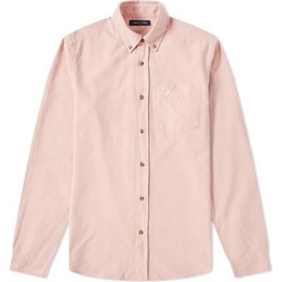 フレッドペリー Fred Perry Authentic メンズ シャツ トップス button down overdyed oxford shirt Silver Pink