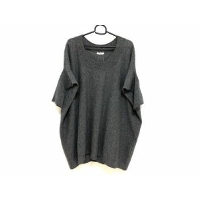 アドーア ADORE 半袖セーター サイズ38 M レディース - グレー クルーネック/カシミヤ混【中古】20201215