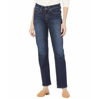 シルバージーンズ デニムパンツ ボトムス レディース Suki Mid-Rise Curvy Fit Straight Leg Jeans L93413EPX407 Indigo