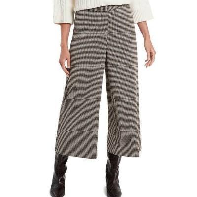 ヴィンスカムート レディース カジュアルパンツ ボトムス Menswear Inspired Check Wide Leg Culotte Pants Rich Taupe