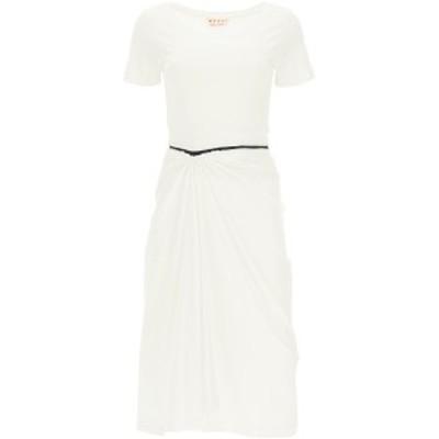 MARNI/マルニ White Marni midi dress in jersey レディース 春夏2021 ABJE0645A0UTCZ57 ik