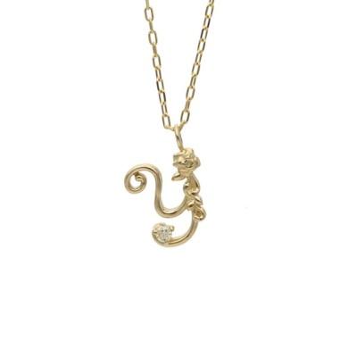 L&Co. / K10 イニシャル×バラモチーフ ネックレス<Small> WOMEN アクセサリー > ネックレス