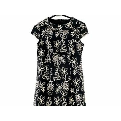 ホコモモラ JOCOMOMOLA ワンピース サイズ40 XL レディース 黒×アイボリー 刺繍【中古】20200708