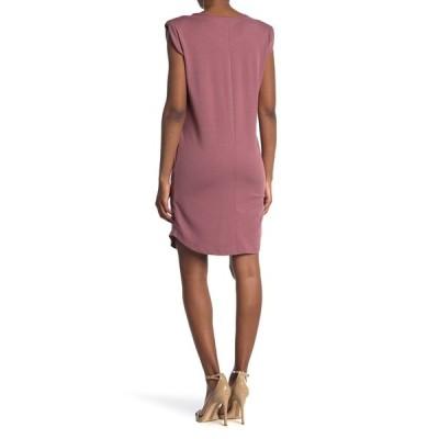 メロデイ レディース ワンピース トップス Padded Shoulder Sleeveless T-Shirt Dress MAUVE