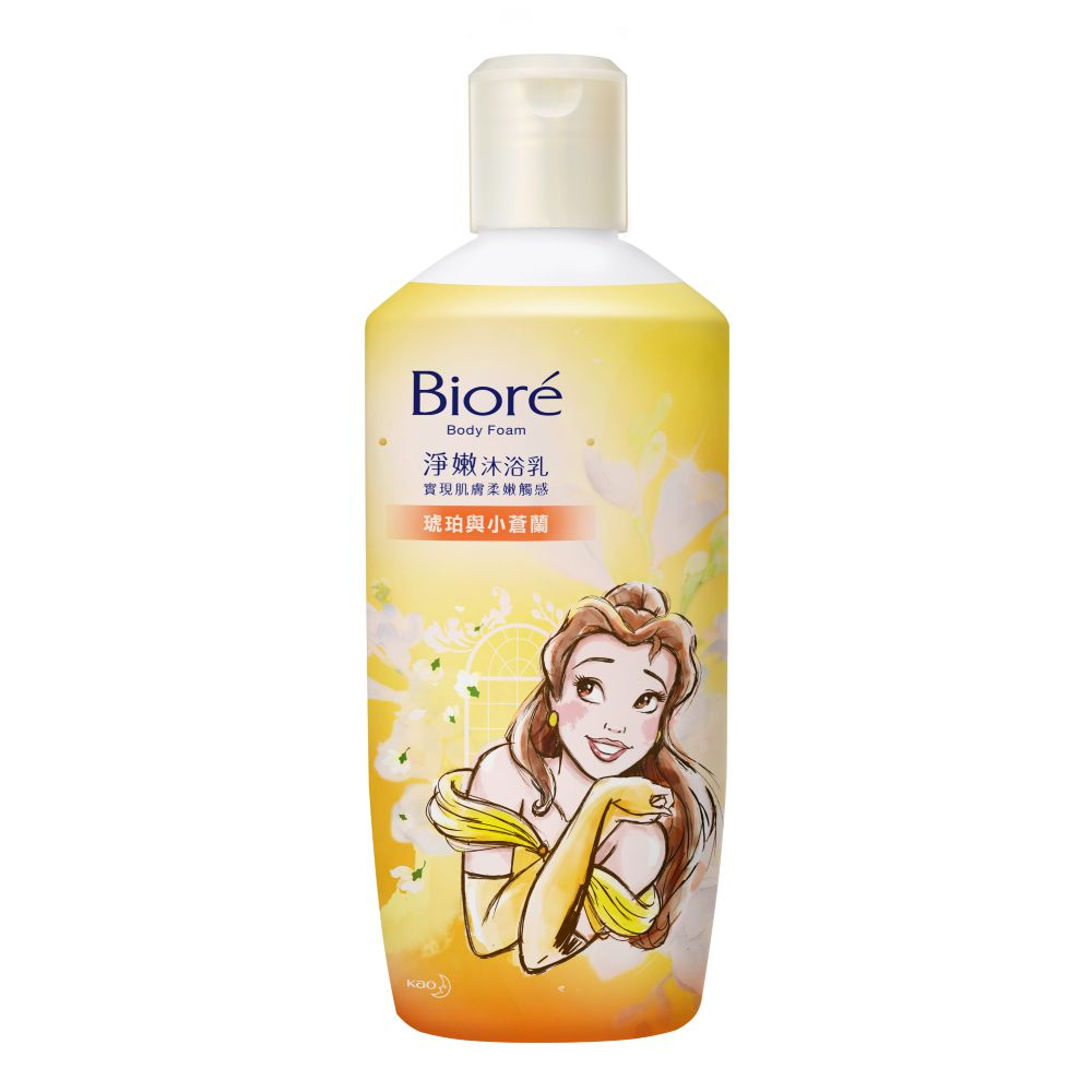 Biore蜜妮淨嫩沐浴乳 琥珀與小蒼蘭香 潤澤型300g
