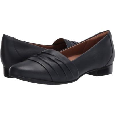 クラークス Clarks レディース ローファー・オックスフォード シューズ・靴 Un Blush Vibe Navy Leather