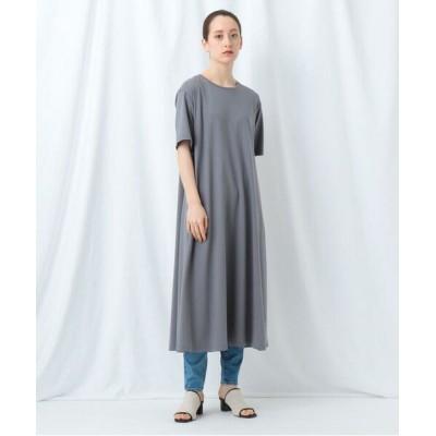 INDIVI/インディヴィ 【WEB限定】バックタックTシャツワンピース ダークグレー(013) 38(M)