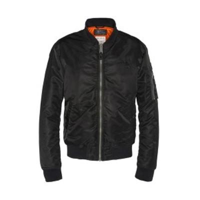 スコット メンズ ジャケット&ブルゾン アウター Bomber Jacket - black black