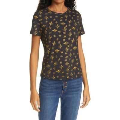 アリス アンド オリビア ALICE + OLIVIA レディース Tシャツ トップス Rylyn Queen Bee Print Cotton T-Shirt Queen Bee