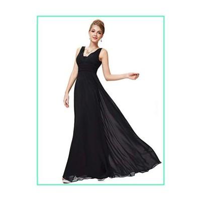 Ever-Pretty Womens Elegant Ruffles Wedding Guest Dresses 20US Black並行輸入品