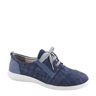 エスエーエス レディース スニーカー シューズ Marnie Plaid Sneakers Blue Jay/Nubuck