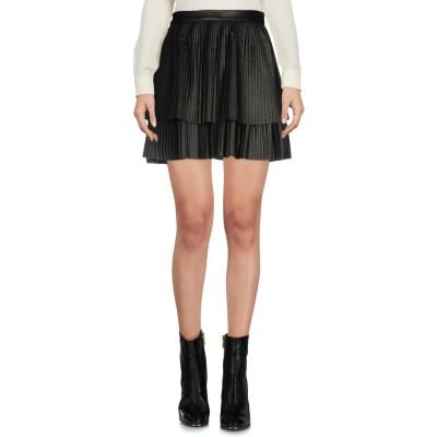 メルシー ..,MERCI ミニスカート ブラック 44 ポリウレタン 50% / レーヨン 50% ミニスカート