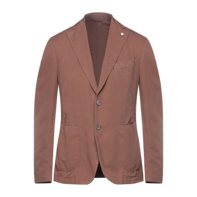 BRANDO テーラードジャケット ブラウン 52 コットン 79% / リネン 21% テーラードジャケット