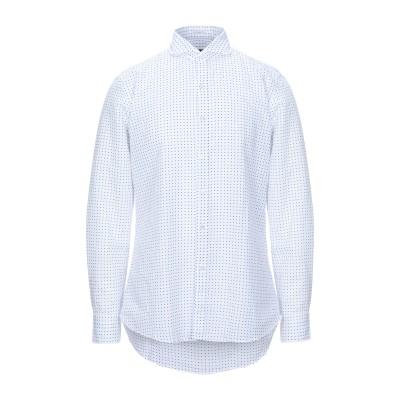 HIMON'S シャツ ホワイト 38 コットン 58% / 麻 42% シャツ