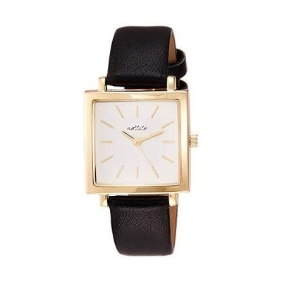 フィールドワーク 腕時計 アナログ アルド スクエア 革ベルト 白 文字盤 ST251-4 レディース ブラック