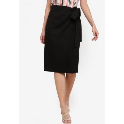 ザローラ ZALORA レディース ひざ丈スカート ラップスカート スカート Wrap Skirt Black