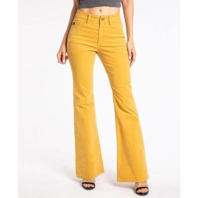 カンクン レディース デニムパンツ ボトムス Women's High Rise Corduroy Skinny Flare Jeans