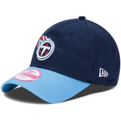 ニューエラ レディース 帽子 アクセサリー Tennessee Titans New Era Women's Basic 9FORTY Adjustable Hat Navy