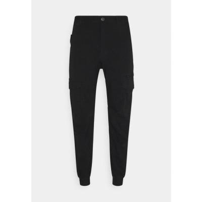 コットンオン メンズ ファッション URBAN JOGGER - Cargo trousers - true black