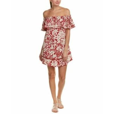 Red Carter レドカーター ファッション ドレス Red Carter Off-The-Shoulder Cover-Up Dress M Red
