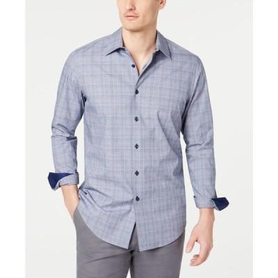 タッソエルバ メンズ シャツ トップス Men's Stretch Dobby Plaid Shirt