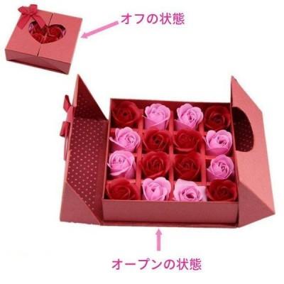 花束ギフトソープフラワープレゼント ボックスフラワー 花 ローズ ギフト 誕生日 記念日 お祝い 石鹸 ソープ 小物   ギフト