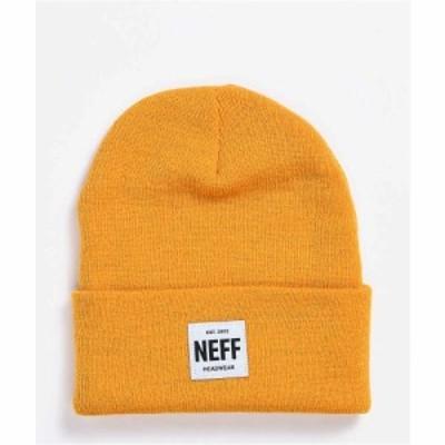 ネフ NEFF レディース ニット ビーニー 帽子 Neff Lawrence Patch Gold Beanie Gold