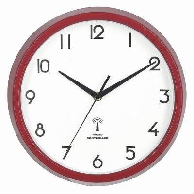 3個セット★ 電波掛時計 カペラ Φ27cm RD(27266) レッド