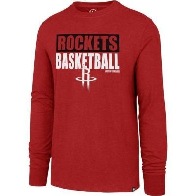 フォーティーセブン メンズ Tシャツ トップス '47 Men's Houston Rockets Club Long Sleeve T-Shirt