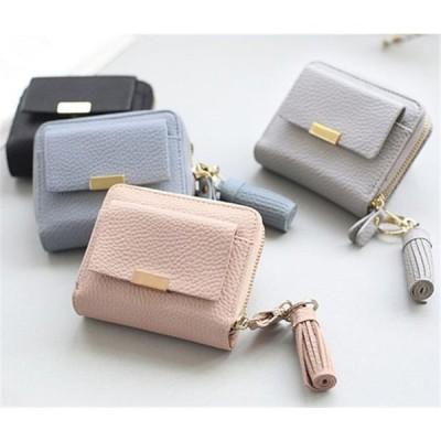 二つ折り財布 レディース 使いやすい 財布 ミニ 安い 革風 おしゃれ かわいい コインケース 小銭 レザー 軽い 女性用 ポーチ 軽量 ビジネス 大人 多機能