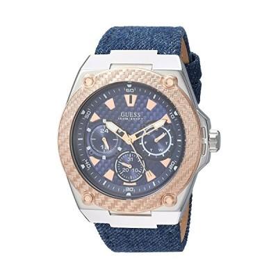 GUESS Men's U1058G1 Analog Display Japanese Quartz Blue Watch 並行輸入品