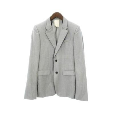【中古】ウーヨンミ WOOYOUNGMI テーラードジャケット ブレザー シングル 総裏 グレー 灰色系 48 ECR3 メンズ 【ベクトル 古着】