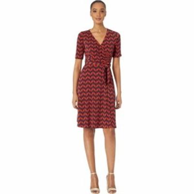 ドナ モルガン Donna Morgan レディース ワンピース ラップドレス ワンピース・ドレス Chevron Faux Wrap A-Line Matte Jersey Dress Nav