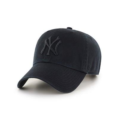 Black  47 New York Yankees Strapback Brand Clean up Adjustable Cap Hat
