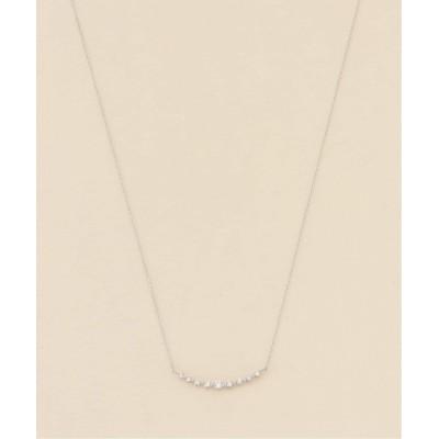レディース デクーヴェルト 18KWG 0.2ct ダイヤモンド ネックレス シルバー フリー