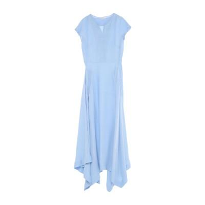 GUGLIELMINOTTI ロングワンピース&ドレス スカイブルー 44 コットン 100% ロングワンピース&ドレス